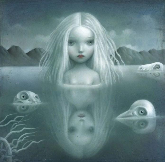 bambina in acqua