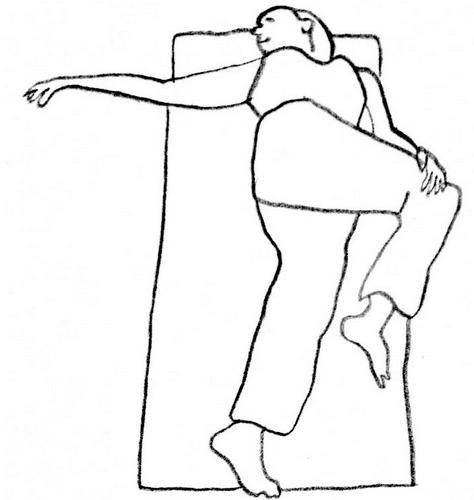 DIsegno di una donna che fa stretching e allena il muscolo dell'anima