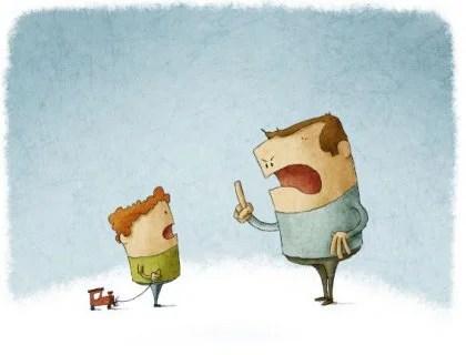 Padre enfadado con su hijo