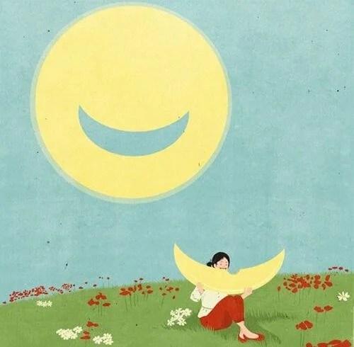 luna con sonrisa