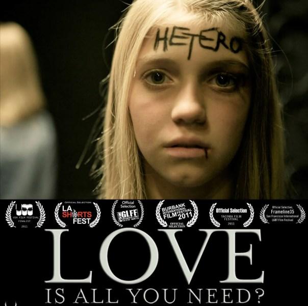 portada del corto sobre la heterofobia