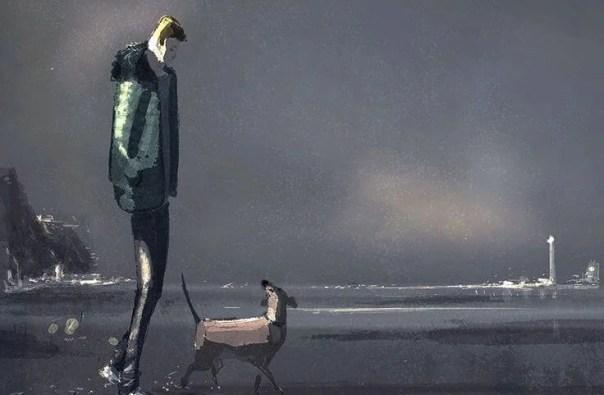 hombre paseando con su perro disfrutando de su forma de ser