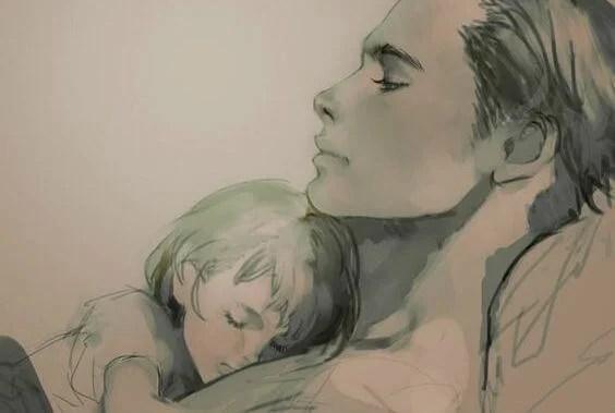padre con su hijo