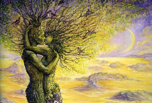pareja fusionada en un árbol