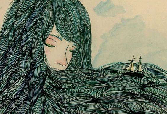 joven con barco en el cabello
