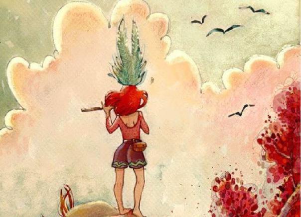 Mujer mirando al horizonte