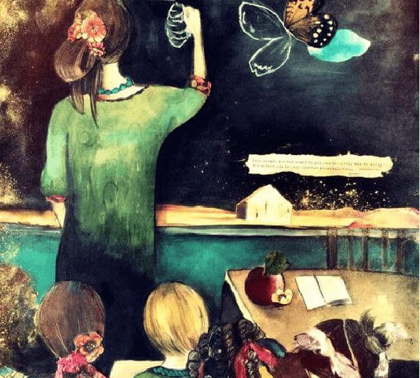 Profesora con niños en la clase