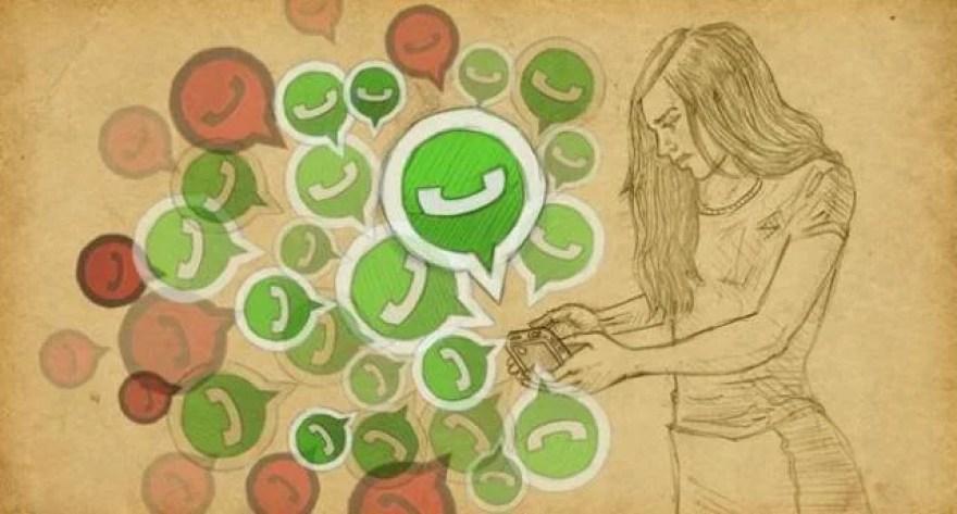 Resultado de imagen para persona adicta a whatsapp