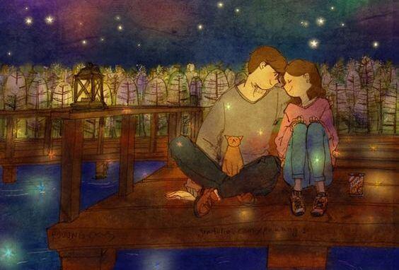 pareja de noche