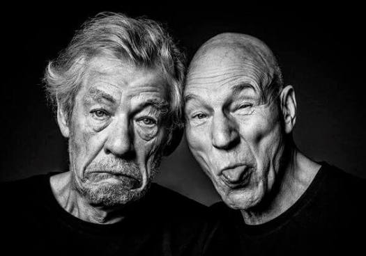 Sir Ian McKellen y Sir Patrick Stewart