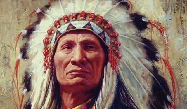 nativo che rappresenta i proverbi degli indiani nordamericani