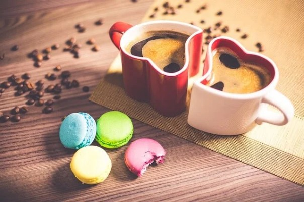 Tazas de café con forma de corazón