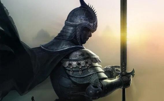 hombre medieval representando las frases del libro El caballero de la armadura oxidada