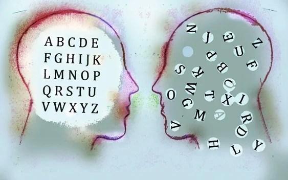 cabezas con letras simbolizando el inconsciente en la vida cotidiana