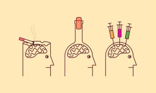 cerebros adictos simbolizando el sistema de recompensa del cerebro