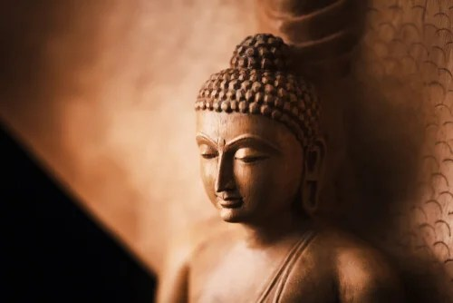 Figura de Buda para representar una historia budista