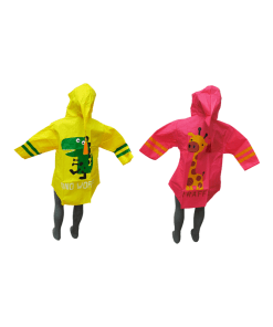 Impermeable Infantil de Color con Visera