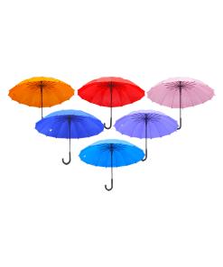 Paraguas de Color Liso Repelente al Agua