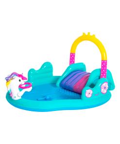 Parque Acuático Unicornio Mágico Inflable Infantil