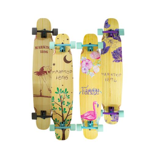 Patineta Longboard De Bambú Para Mujer