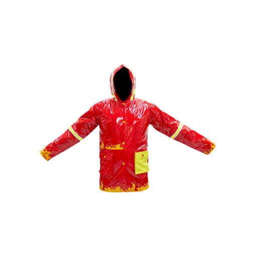 Impermeable Infantil Rojo Térmico Con Capucha