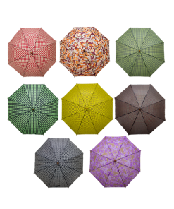 Paraguas Semiautomático Con Estampados De Colores