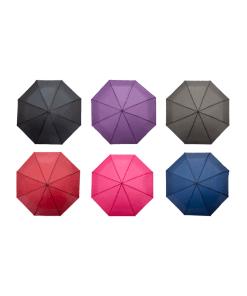 Paraguas Manual De Colores Lisos Con Mango Recto
