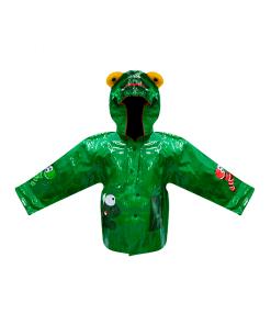 Impermeable Infantil Verde Térmico Capucha