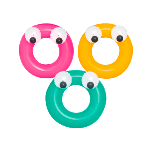 Salvavidas Inflable de Color con Ojos Chico