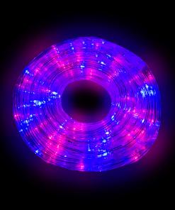 Manguera Gel Navideña Luz Azul / Rosa 10 Mts