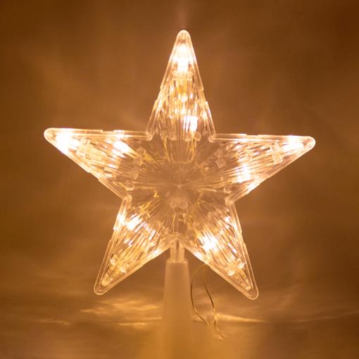 Estrella Punta De Arbol Luz Cálida 10 Led