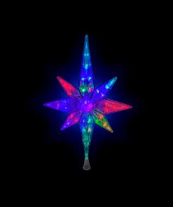 Estrella Punta De Arbol Luz Multicolor 30 Led