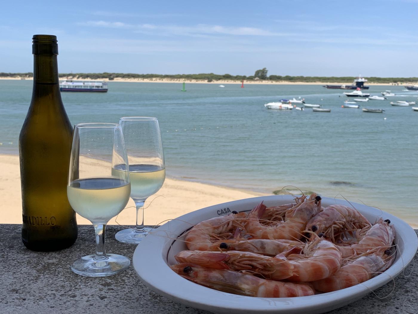 mesa-habla-langostinos-sanlucar-vino