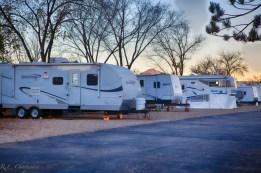 La Mesa RV Park in the winter