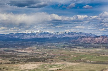 The Rocky Mountains from Mesa Verde - Cortez RV Park