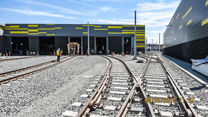 Southwest Rail Yard progress, Aug. 2018