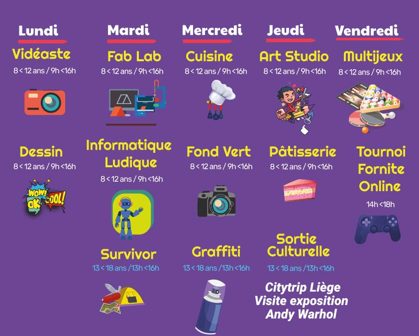Stages de carnaval du 15