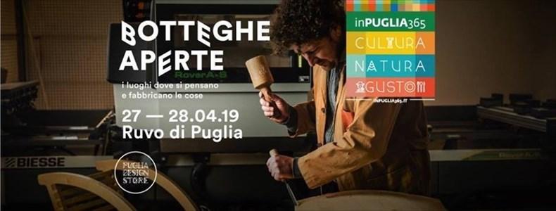 """Ruvo di Puglia: appuntamento con """"Botteghe Aperte"""" il 27 e 28 Aprile"""