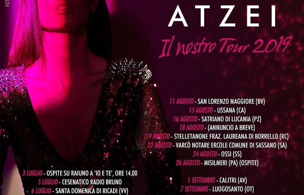 """Bianca Atzei ed """"Il nostro Tour 2019"""" sbarcano a Canosa di Puglia il 2 Agosto."""