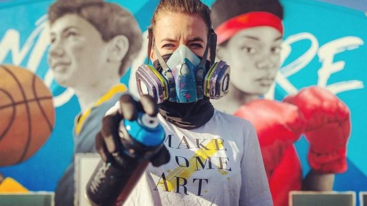 Quando Arte e Sport si incontrano: il murales di Zabou rende Unico il Palazzetto di Cerignola (Fg)