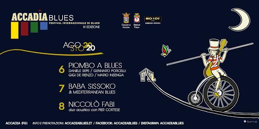 Accadia Blues Festival, evento in forma ridotta: si comincia domani
