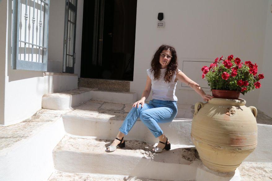 """Maria Pace, di """"Chianca d l'ora"""" a Ostuni: """"La nostra casa-vacanza rispecchia in pieno l'identità pugliese"""""""
