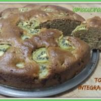 Torta integrale al kiwi senza uova senza lattosio