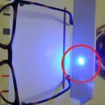 Laser fuori da lente blue blocks