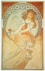 """Alfons Mucha, """"La Peinture"""", 1898"""