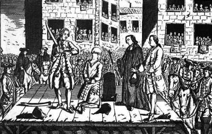 Décapitation de Lally Tollendal en 1766