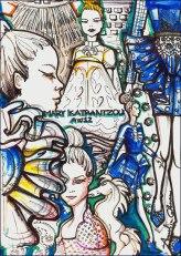 Annalisa Colonna's artwork for Mary Katrantzou AW12 Illustration Competition