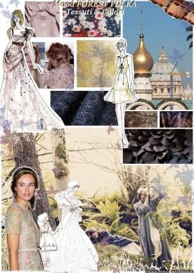 mood2 FOREST POLKA tessuti & colori - A Colonna