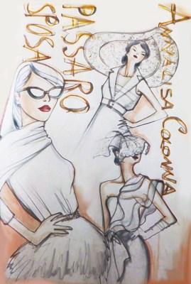Annalisa Colonna - Illustrazione della collezione Passaro Sposa