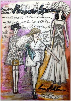 Annalisa Colonna - Illustrazione per la sfilata di Passaro Sposa